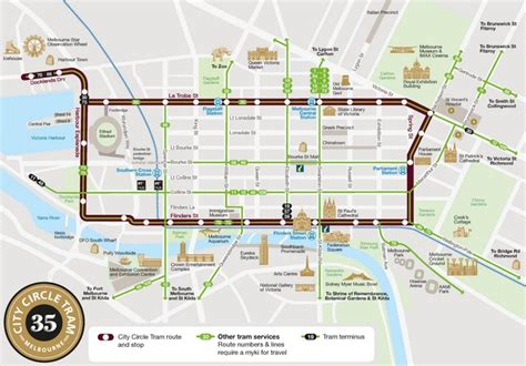 melbourne australia world map melbourne city circle tram map