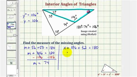How To Calculate Interior Angles Of A Triangle by Ex 2 Find The Measure Of An Interior Angle Of A Triangle