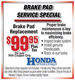 Honda Coupons Honda Wesley Chapel Coupon Major Service