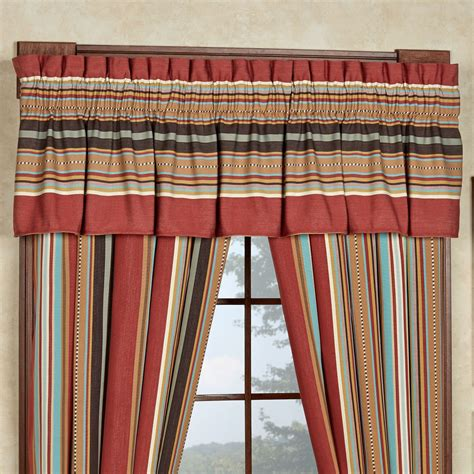 southwest curtains and valances calhoun striped southwest window treatment