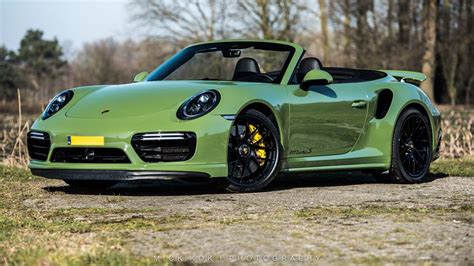 green porsche convertible pts olive green porsche 911 turbo s cabriolet is a
