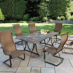 costco patio dining sets images living palazetto cast aluminum patio dining set seats 8 at