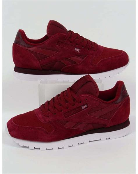 Swager Size 27 Burgundy reebok classic leather np trainers in burgundy retro 80s suede uk sizes from 73 33