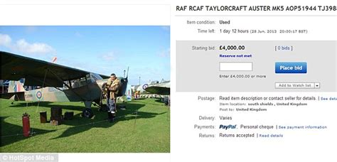 ebay reserve not met world war two plane used to defeat hitler for sale on ebay