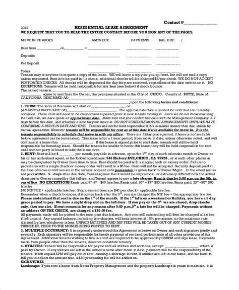 House Lease Agreement 14 Free Download Documents In Pdf One Year Lease Template