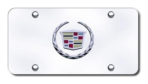 Cadillac Vanity Plates by Cadillac Chrome Logo License Plate Cadillac License