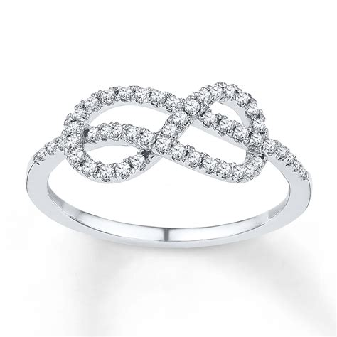 jared infinity ring 1 4 ct tw cut sterling