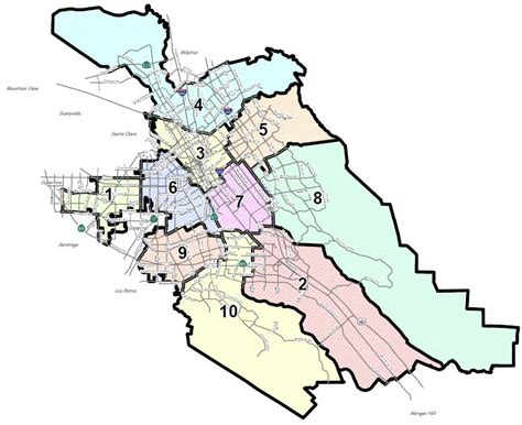 san jose city map boundary willow glen neighborhood association city of san
