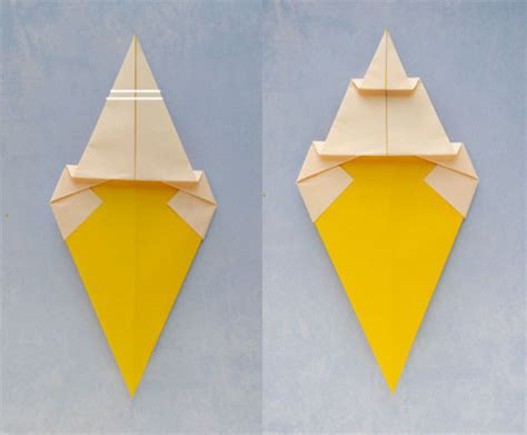 How To Fold Paper Into A Cone - origami cone 183 how to fold an origami food