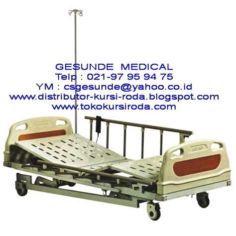 Tempat Tidur Electric ranjang rumah sakit elektrik deluxe abs 3 crank electric hospital bed baru toko medis jual