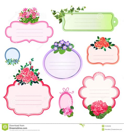 labels flower garden picture flowers free flower images garden flower labels stock photo image 31250250