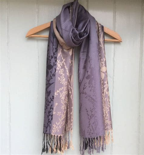 Hm Scarf Scarves Pashmina Besar flowers and leaves pashmina scarf by boutique notonthehighstreet