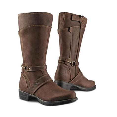womens brown motorcycle boots stylmartin megan womens motorcycle boots dark brown