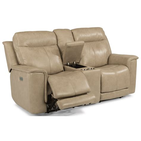 power reclining sofa with power headrest flexsteel latitudes miller 1729 64ph power reclining