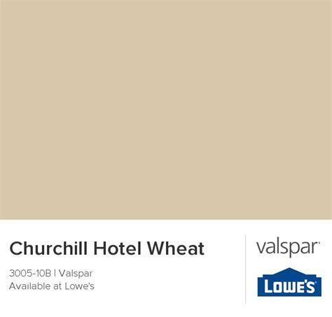 churchill hotel wheat from valspar