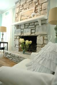 Shabby Chic Brick Fireplace by Shabby Chic Brick Fireplace Home Design And Interior