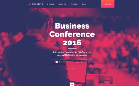 Conference Event Html5 Responsive Website Template Conference Website Template Free