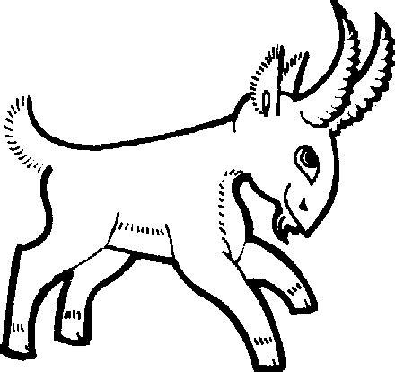 new year animal goat 2015羊年元旦简笔画 可爱的山羊 动物简笔画 5068儿童网