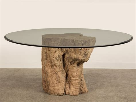 tree trunk glass coffee table awesome teak tree trunk table with circled glass top as
