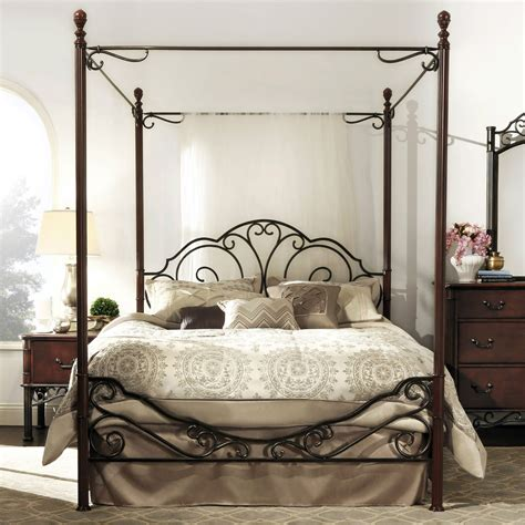 poster canopy bed antique metal poster bed frame wrought iron canopy