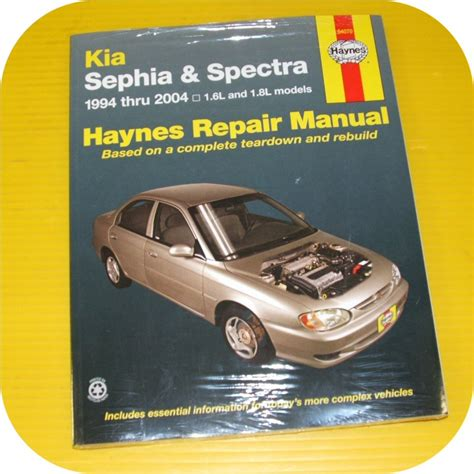 Kia Haynes Manual Repair Shop Manual Book Kia Sephia 94 01 Spectra 00 04