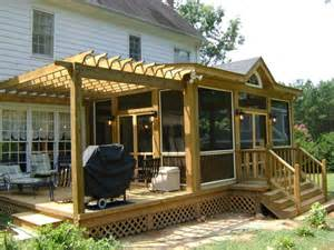 deck designs designs for screened in porches with deck