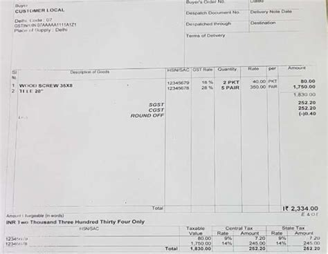 invoice template with gst invoice template gst 28 images tax invoice template