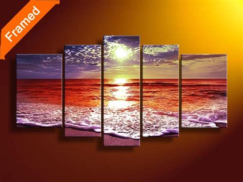 Animal Print Bedroom Ideas aliexpress com buy natural sea oil painting 5 piece