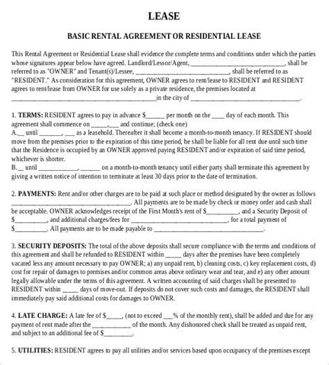 Rental Agreement Templates 15 Free Word Pdf Documents Download Free Premium Templates Standard Rental Agreement Template
