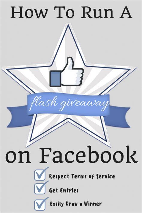 How To Run A Facebook Giveaway - how to run a facebook flash giveaway pick a winner