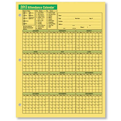 2013 Attendance Calendar Search Results For Free Printable 2013 Employee Attendance Calendar Calendar 2015