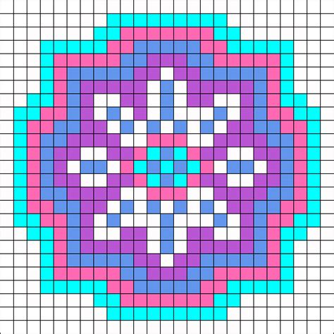 perler bead patterns easy 8 sided snowflake design perler bead pattern bead