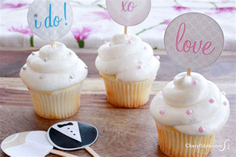 printable wedding shower cupcake toppers printable bridal cupcake toppers everyday dishes