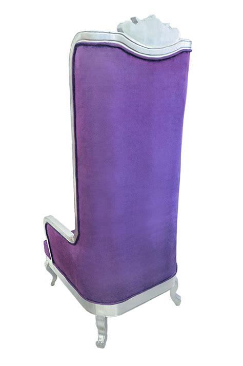 Purple High Back Chair by High Back Chair King Throne Purple