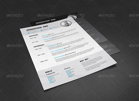 envato resume templates resume cv template by bullero graphicriver