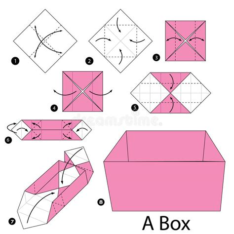 how to make a origami box step by step step by step how to make origami a box stock