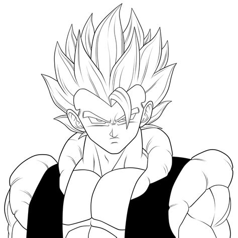 dragon ball z fusion coloring pages fusion super saiyan gogeta dragon ball z coloring pages