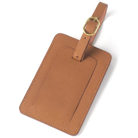 Leather Tag leather luggage tag by clava