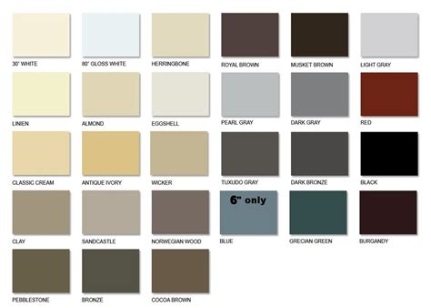 premier color color chart wilco gutter supply