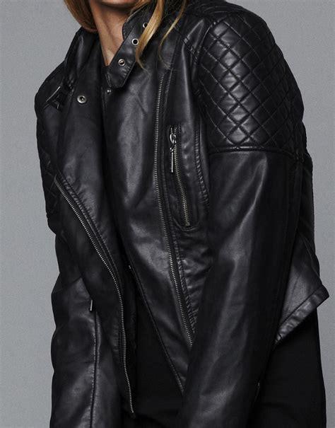 Jaket Zipper 2 This Is Sriwijaya Fc black sleeve zipper pockets leather jacket sheinside