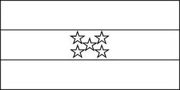 Honduras Flag Outline by Honduras Coloring Pages Coloring Pages