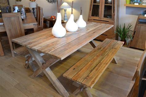 plank dining bench reclaimed teak plank dining set bentota bench