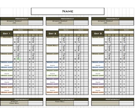 Excel Training Designs Fast Easy Affordable Workout Templates For Personal Trainers
