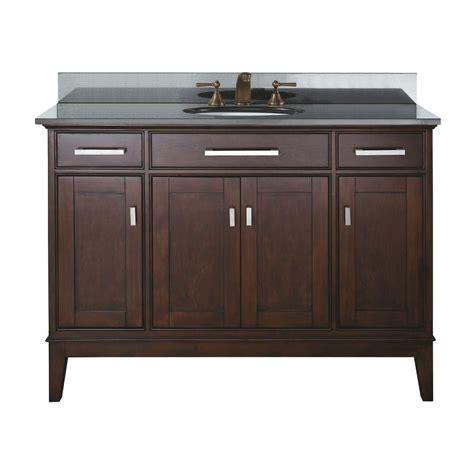 Home Depot 48 Inch Vanity avanity 48 inch w vanity in light espresso finish with granite top in black the home