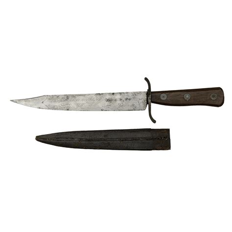 american bowie knife american bowie knife with patriotic motto and motif