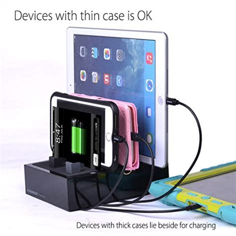 quick charge multi device charging station for phones avantree 4 port 8a usb charging station organizer for