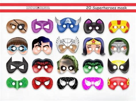 printable mask avengers summer superhero and chic on pinterest