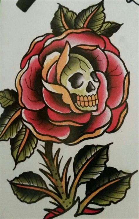 tattoo old school rose and skull collection of 25 traditional coffee rose skull tattoo sheet