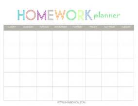 Assignment Calendar Template by 7 Best Images Of College Homework Free Printable Planners