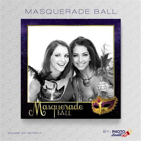 photo booth layout photoshop masquerade ball square photoshop psd file photo